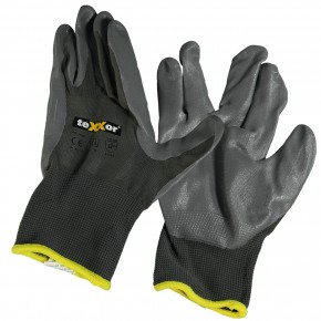 4 Paar Nylon - Schutzhandschuhe, vielseitig, grau, Gr. 11
