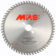 1 MPS HM bestücktes Tischkreissägeblatt, KW- Wechselzahn, 60 Zähne, 250x3,2x30mm