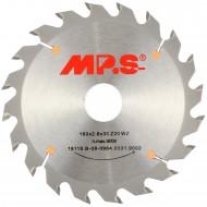 1 MPS HM bestücktes Handkreissägeblatt mit Reduzierung, 20 Zähne, 160x2,8x30mm