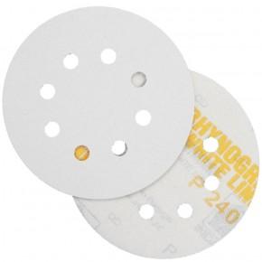 10 Schleifscheiben - Klettscheiben P240, Ø125 mm, 8-Loch