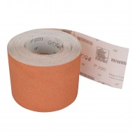 1 Rolle Schleifpapier P220, 115mm, 7,10m, rot