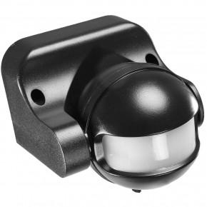 1 Bewegungsmelder, Dämmerungsschalter, 180 Grad, schwarz, Aufputz, Außen, Wand