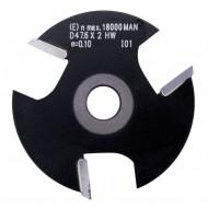 1 Edessö Scheibennutfräser HW mit 3 Schneiden, 2 mm Dick, 47,6 mm