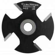 1 Scheibennutfräser HW mit 4 Schneiden, 6 mm Dick, 50,8 mm