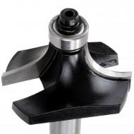 1 EDESSÖ Abrundfräser HW mit Kugellager - 16mm Radius, 44,7mm Ø, 8mm Schaft