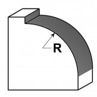1 EDESSÖ Abrundfräser HW mit Kugellager - 5mm Radius, 22,7mm Ø, 8mm Schaft