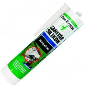 1 Kartusche Den Braven Sanitär-Silikon - weiß - 300ml  - pilzhemmend
