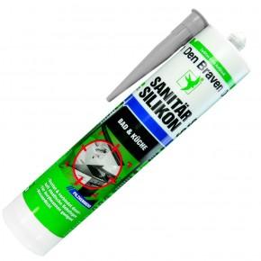 1 Kartusche Debratec Sanitär-Silikon - grau - 310ml  - pilzhemmend