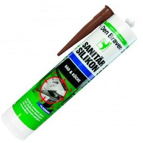1 Kartusche Den Braven Sanitär-Silikon - braun - 300ml  - pilzhemmend