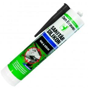 1 Kartusche Den Braven Sanitär-Silikon - schwarz - 300ml  - pilzhemmend