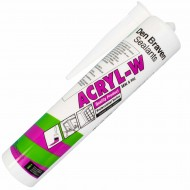 1 Kartusche Acryl (Den Braven), Dichtstoff,  310 ml, weiß