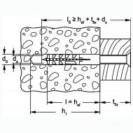 1 FISCHER System-Rundhaken-Set 80mm, inkl. Dübel und Schraube
