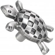 1 HSI Möbelknopf Schildkröte - zinnfarbig - 34 mm