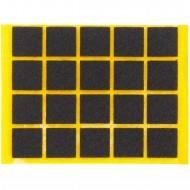 20 HSI Stuhlgleiter, Filz - selbstklebend - braun - 17x17mm