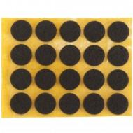 20 HSI Stuhlgleiter, Filz - selbstklebend - braun - 17mm