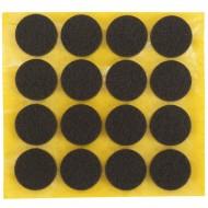 16 HSI Stuhlgleiter, Filz - selbstklebend - braun - 22mm