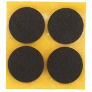 4 HSI Stuhlgleiter, Filz - selbstklebend - braun - 35mm