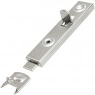 2 HSI Möbelriegel - gerade - Eisen - vernickelt - 70mm