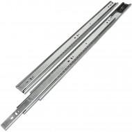 1 HSI Set Schubladenführungen - Kugel-Vollauszug mit Selbsteinzug 40kg - 600mm