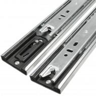 1 HSI Set Schubladenführungen - Kugel-Vollauszug mit Selbsteinzug 40kg - 350mm
