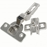 2 HSI Topfbänder - ohne Feder - für Mitteltür - vernickelt - 35mm