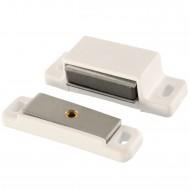 1 HSI Magnetschnapper - mit beweglicher Platte - weiß - Haftkraft 4kg