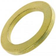 30 HSI Fitschenringe - Eisen - vermessingt - 15x23 mm