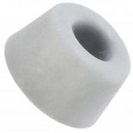 2 HSI Türstopper - zum Anschrauben - Gummi - grau - 10x20mm