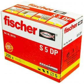 200 FISCHER Spreizdübel S 5x25 mm - Nylon - für Holz- und Spanplattenschrauben