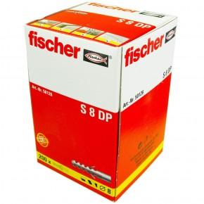 200 FISCHER Spreizdübel S 8x40 mm - Nylon - für Holz- und Spanplattenschrauben
