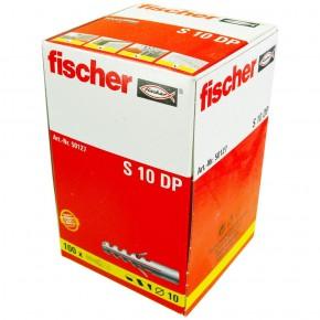 100 FISCHER Spreizdübel S 10x50 mm - Nylon - für Holz- und Spanplattenschrauben
