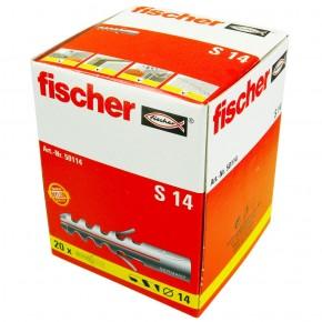 20 FISCHER Spreizdübel S 14x75 mm - Nylon - für Holz- und Spanplattenschrauben