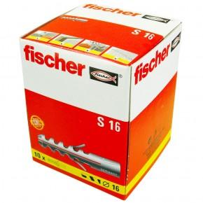 10 FISCHER Spreizdübel S 16x80 mm - Nylon - für Holz- und Spanplattenschrauben
