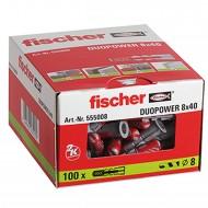 100 FISCHER DUOPOWER Nylon-Dübel - 8 x 40 mm