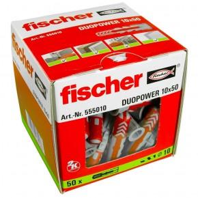 50 FISCHER DUOPOWER Nylon-Dübel - 10 x 50 mm