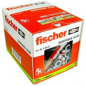 25 FISCHER DUOPOWER Nylon-Dübel - 10 x 80 mm