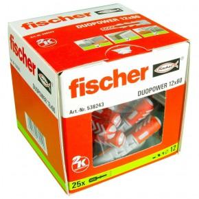 25 FISCHER DUOPOWER Nylon-Dübel - 12 x 60 mm