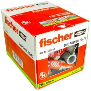 20 FISCHER DUOPOWER Nylon-Dübel - 14 x 70 mm