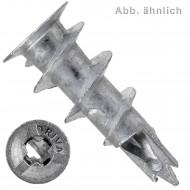 100 FISCHER Gipskartondübel GKM 5 x 31 mm - verzinkt - PZ2 - selbstbohrend