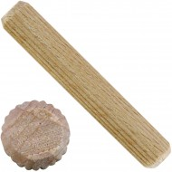 1 kg Parco Riffeldübel Holzdübel - Buchenholz 10 x 60 mm - ca. 300 Stück