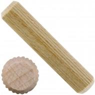 1 kg Parco Riffeldübel Holzdübel - Buchenholz 12 x 60 mm - ca. 200 Stück