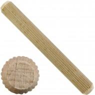 1 kg Parco Riffeldübel Holzdübel - Buchenholz 12 x 120 mm - ca. 120 Stück