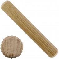 1 kg Buchen-Riffeldübel 16 x 100 mm DIN 68150 Industriequalität  ca. 70 Stück