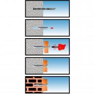 100 KTS-X Universaldübel 6x30 mm mit Kragen