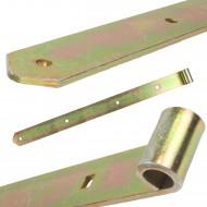 1 GAH Ladenband 400x45mm 16mm Rolle schwer gerade Form abgerundet gelb verzinkt