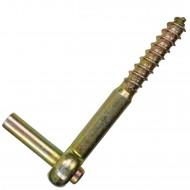 1 GAH Schraubkloben - Dorn: 10mm, Länge: 115mm - gelb verzinkt