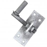 1 GAH Kloben verstellbar um 20 mm feuerverzinkt Dorn 13 mm 100x40 mm