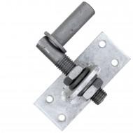 1 GAH Kloben verstellbar um 20 mm feuerverzinkt Dorn 16 mm 100x40 mm
