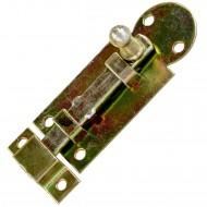 1 GAH Fensterriegel gelb verzinkt gerade mit Schlaufe und Knopf 61x26x7,5 mm