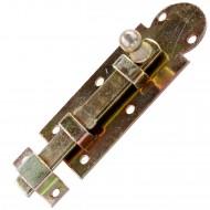 1 GAH Fensterriegel gelb verzinkt gerade mit Schlaufe und Knopf 80x30x10 mm